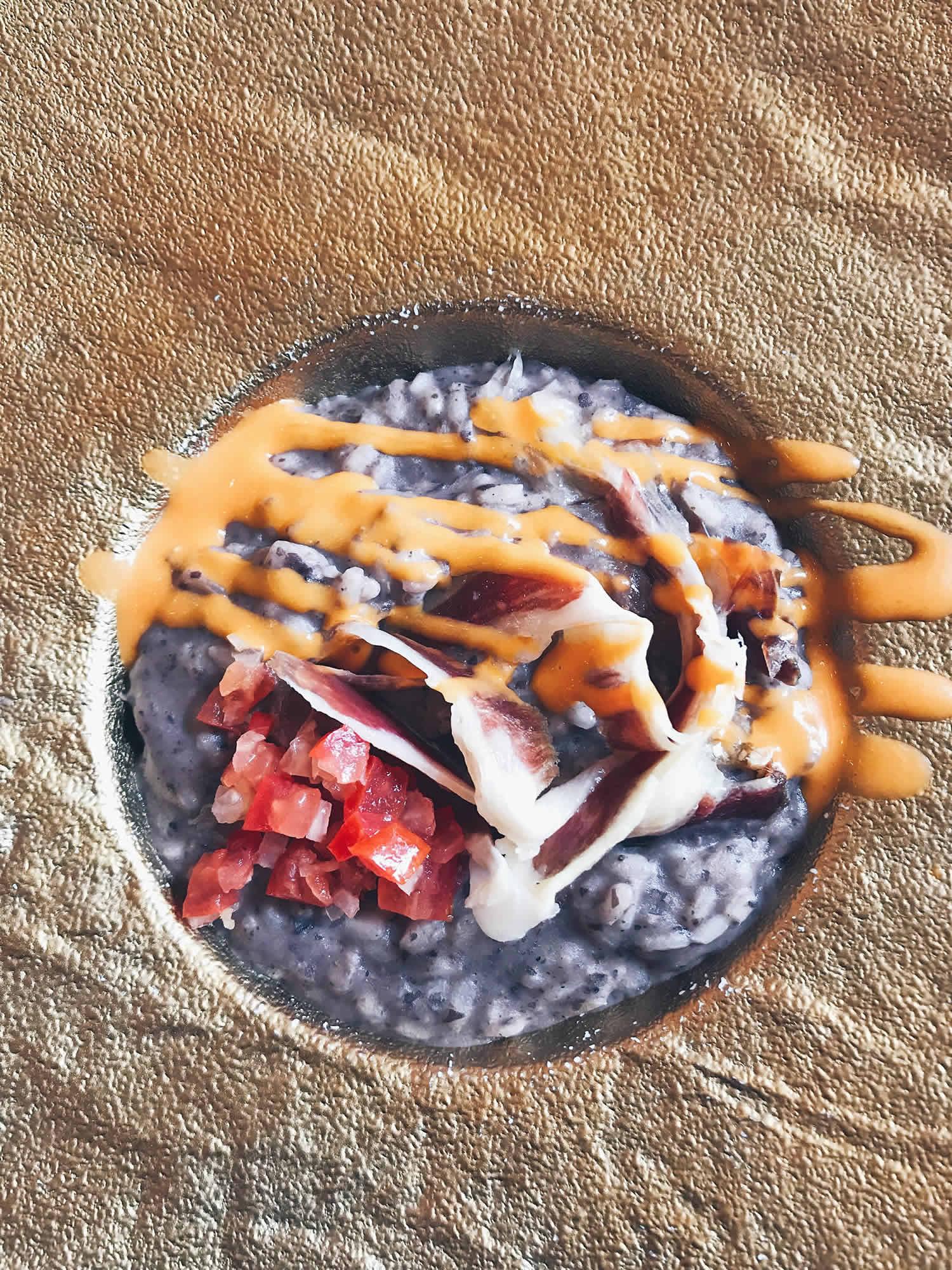 Risotto officina del riso dettaglio del piatto